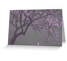 China Red - Pink Blossoms Greeting Card