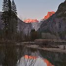 Merced River Sunset Reflections by Stephen Vecchiotti