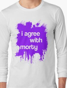 i agree with morty - PURPLE Long Sleeve T-Shirt