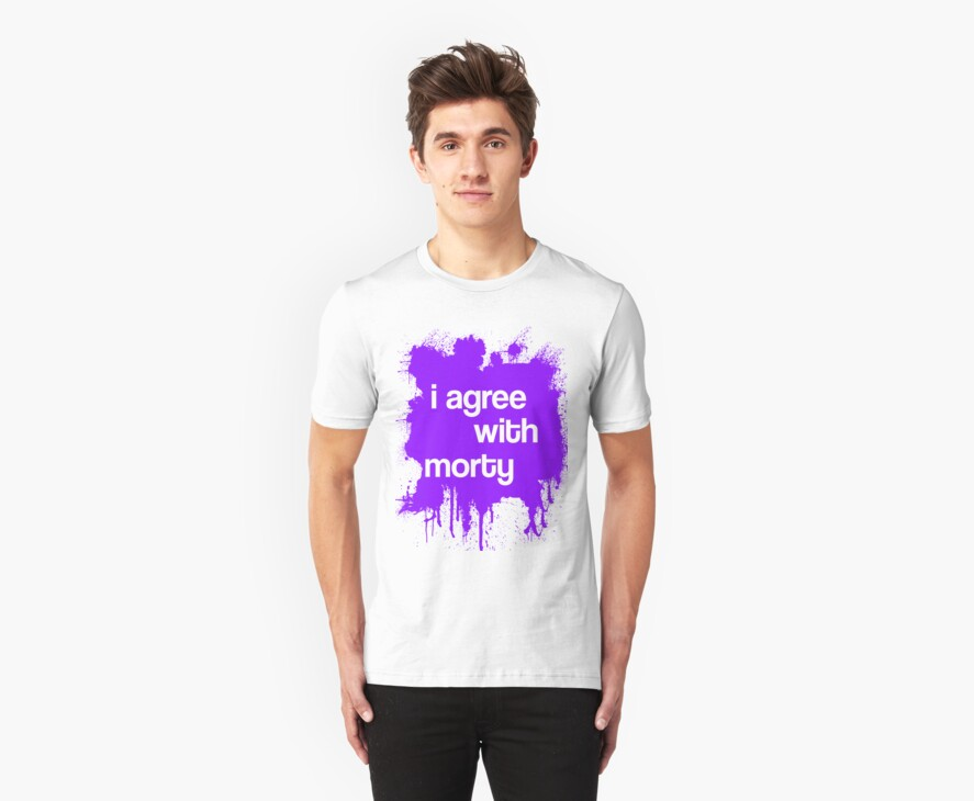 i agree with morty - PURPLE by susieneilson