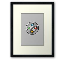 SNES Controller Icon Framed Print