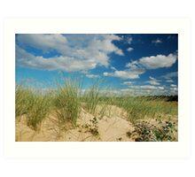 Dunes at North Norfolk beach, United Kingdom Art Print