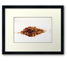 Chillie Flakes Framed Print