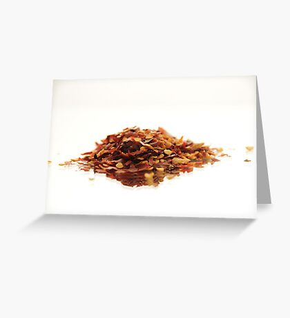 Chillie Flakes Greeting Card