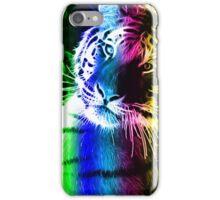 COLOURFUL FRACTAL LIGHT BENGAL TIGER iPhone Case/Skin