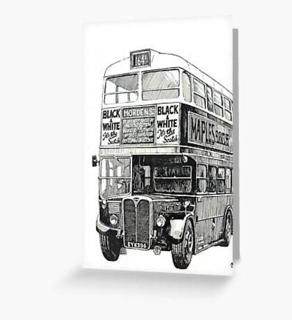 London Transport RT 1 Greeting Card