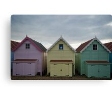Stained Glass Beach Hut Canvas Print