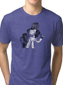 Pinkie Pie Detective Black & White Weathered Tri-blend T-Shirt