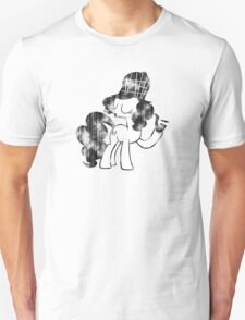 Pinkie Pie Detective Black & White Weathered T-Shirt