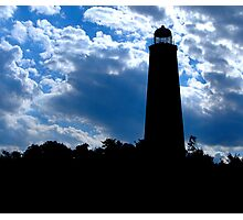 Cloudy Lighthouse Photographic Print
