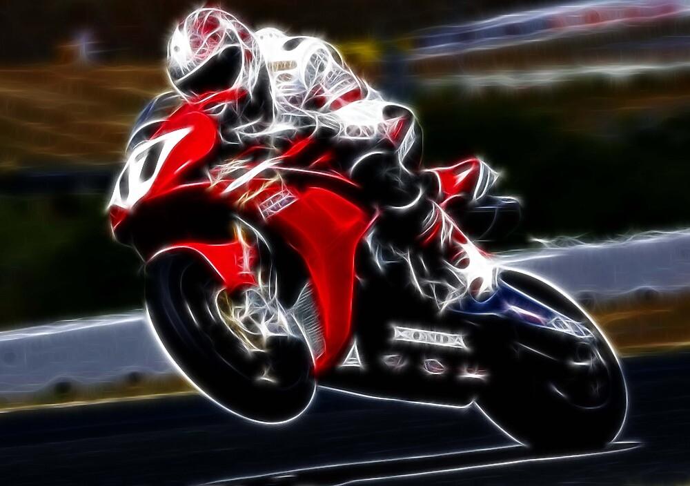 FRACTAL LIGHT MOTORCYCLE RACER DESIGN by Christopher McCabe