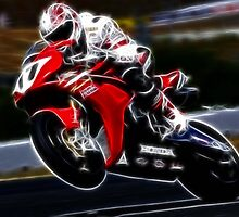 FRACTAL LIGHT MOTORCYCLE RACER DESIGN by Christopher McCabe