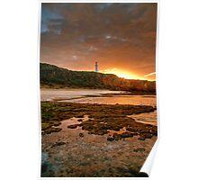 Sunrise over Split Point Lighthouse (2) Poster