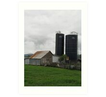 Old and New on the Farm Art Print