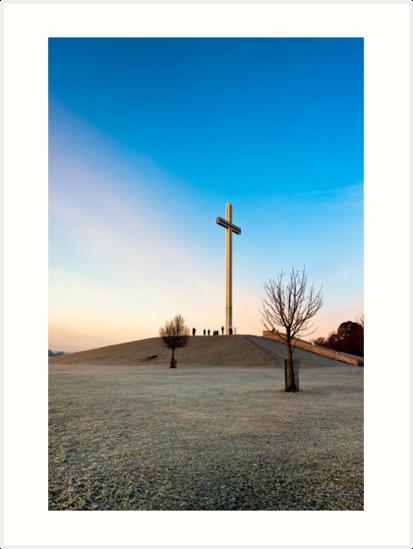 Phoenix Park Chistian Cross - Papal Cross in Dublin Ireland by Mark Tisdale