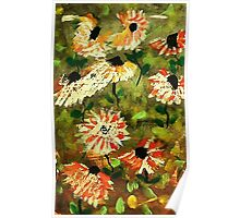 Wild Flowers, watercolor Poster