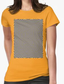 Star Ripples in Blue and Green Womens Fitted T-Shirt