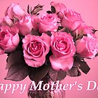 Mother's Day Card: Pink Roses by hummingbirds