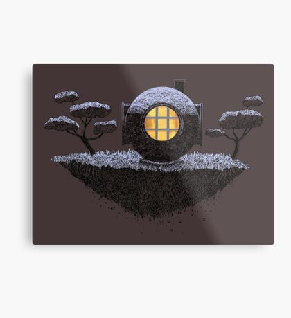 Floating Diver Home Sweet Home Metal Print