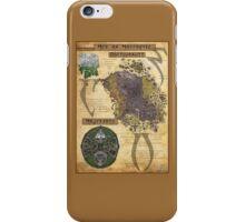Morrowind The Elder Scrolls Map iPhone Case/Skin