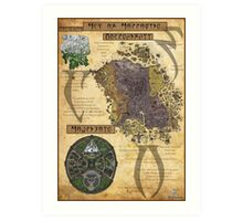 Morrowind The Elder Scrolls Map Art Print