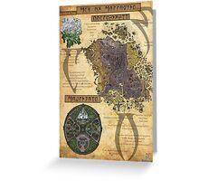 Morrowind The Elder Scrolls Map Greeting Card