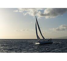 Sailing Towards the Sunlight Photographic Print