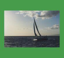 Sailing Towards the Sunlight Kids Tee