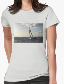 Sailing Towards the Sunlight Womens Fitted T-Shirt
