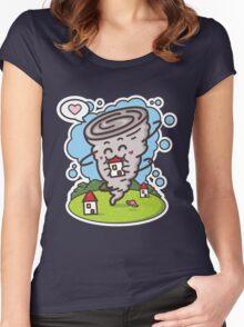 kawaii tornadoes Women's Fitted Scoop T-Shirt