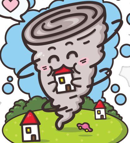 kawaii tornadoes Sticker