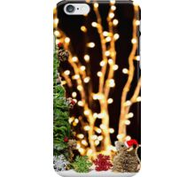 Christmas Tree Santa Mouse Vintage Rustic iPhone Case/Skin