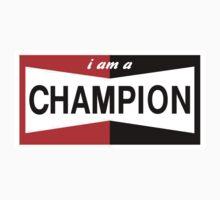 I AM A CHAMPION SPARK PLUG RACING CAR Kids Clothes