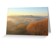 Misty Valley  Greeting Card