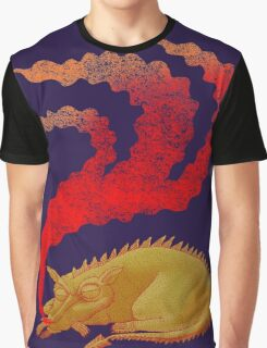 Snoring Dragon Graphic T-Shirt