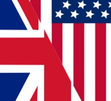 American and Union Jack Flag Sticker