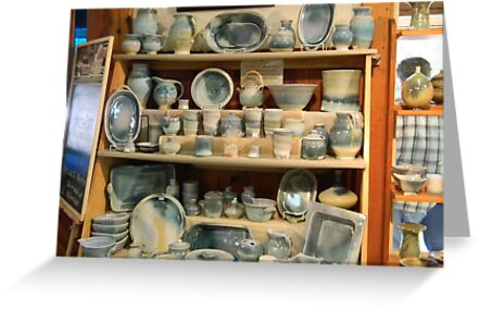 Light Blue Pottery Display by Navigator