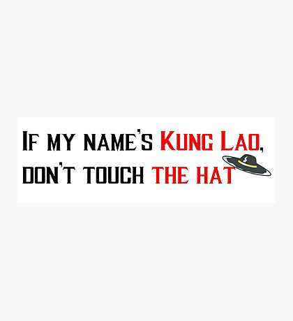Kung Lao's Hat Photographic Print