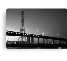 Bridge noir Canvas Print
