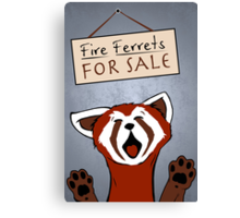 Fire Ferrets For Sale Canvas Print