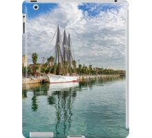 Tall Ships and Palm Trees - Impressions of Barcelona iPad Case/Skin