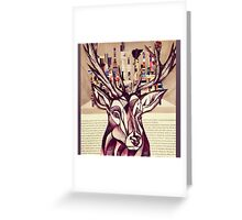 Lego Stag Illustration Greeting Card
