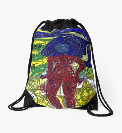 Draw The Line Drawstring Bag