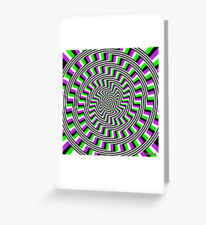 Self-Moving Unspirals Greeting Card