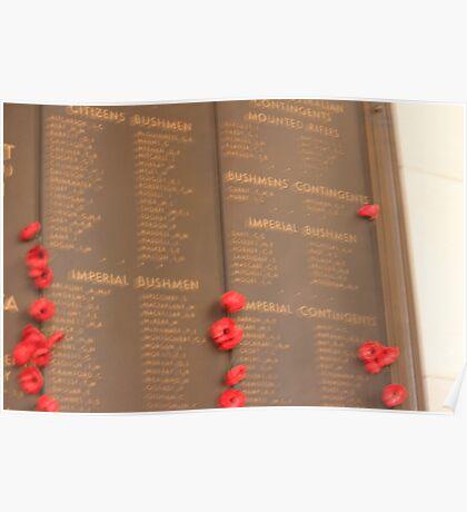 Australia War Memorial. Tribute Wall. Poster