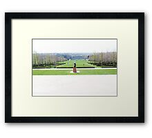 Landscape of the Nelson Atkins Framed Print