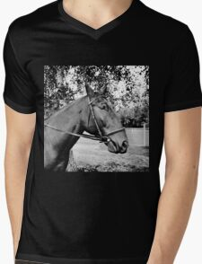 Horse in bridle portrait Mens V-Neck T-Shirt