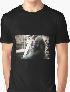 Single gorilla sitting alone Graphic T-Shirt