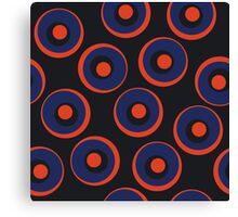 Retro pattern with circles Canvas Print