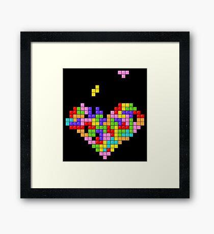 Tetris Heart Framed Print